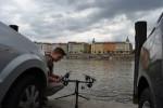 Ondra poprvé smočil ve Vltavě